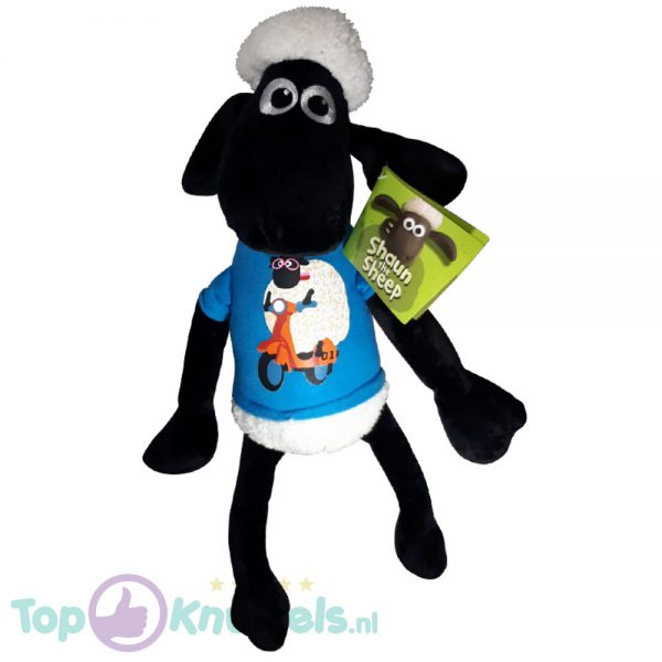 Shaun the Sheep Pluche Knuffel Blauwe Trui 45 cm