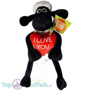 Shaun the Sheep Pluche Knuffel Rood Hart 45 cm