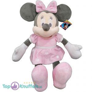 Disney Junior Minnie Mouse Pluche Knuffel (Roze/Grijs) 55 cm