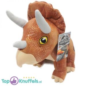 Jurassic Park Pluche Knuffel Lichtbruin Triceratops 30 cm