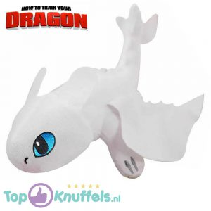 Hoe tem je een draak / How to train your dragon Toothless Light Fury Draken Pluche Knuffel 30 cm