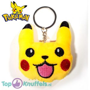 Pikachu Gezichtje Happy Sleutelhanger