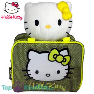 Hello Kitty Pluche Knuffel met Tas set (Geel en Geel)