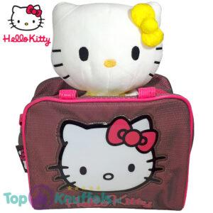 Hello Kitty Pluche Knuffel met Tas set (Roze en Geel)