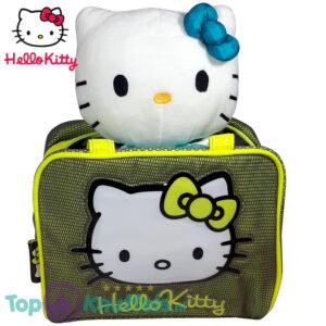 Hello Kitty Pluche Knuffel met Tas set (Geel en Blauw)