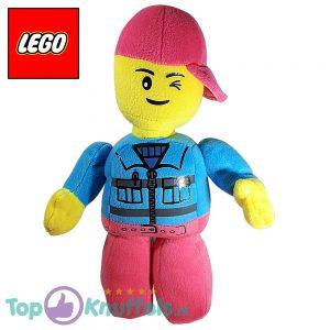 Lego Pluche Knuffel Roze Blauw 32 cm
