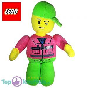 Lego Pluche Knuffel Groen Roze 32 cm