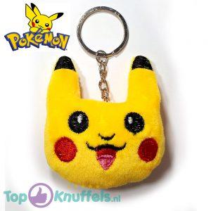Pikachu Pluche Knuffel Gezichtje Smile Sleutelhanger