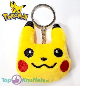 Pikachu Pluche Knuffel Gezichtje Sleutelhanger