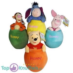 Disney Winnie the Pooh Hunny Knuffel set van 4 (Winnie de Poeh Iejoor Knorretje Tijgertje)