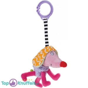 Kooky Dog (Paars) 17 cm + Pluche Knuffel Vingerpop (10 cm)