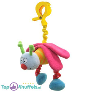 Busty Pals Pluche Hanger met trilfunctie (Roze) 21 cm + Pluche Knuffel Vingerpop (10 cm)