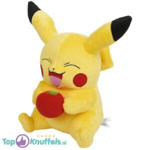 Pokemon Pikachu met appeltje pluche knuffel 30 cm