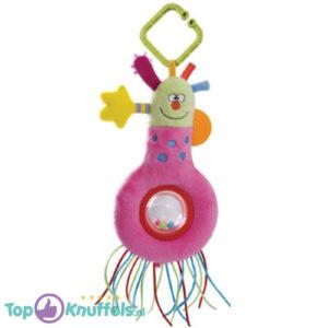 Kooky Rattles Pluche Rammelaar (Roze) 21 cm + Pluche Knuffel Vingerpop (10 cm)