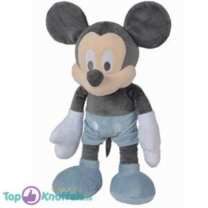 Disney Baby Mickey Mouse Pluche Knuffel (Grijs/Blauw) 40 cm