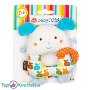 Babyfehn Rammelaar (Wit) 12 cm + Pluche Knuffel Vingerpop (10 cm)