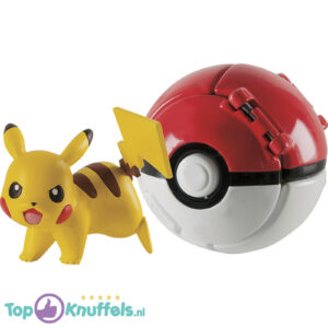 Pokemon Speelgoed Throw 'n' Pop Pikachu + Pokeball Rood/Wit