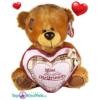Bruine Teddybeer met roze hart ''Most Lovely Girlfriend'' 32 cm
