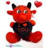 Duivel Teddybeer met I Love You hart 32 cm