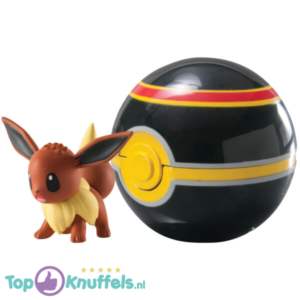 Pokemon Speelgoed Eevee + Pokeball Zwart