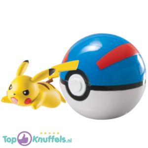 Pokemon Speelgoed Pikachu + Pokeball Blauw