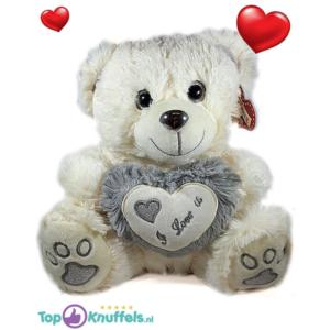 Teddybeer wit met wit