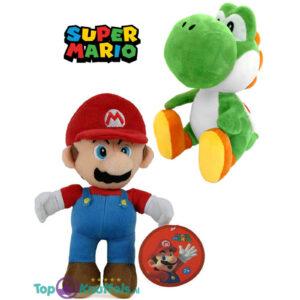 Super Mario Knuffel Set (Mario 28 cm + Yoshi 27 cm)