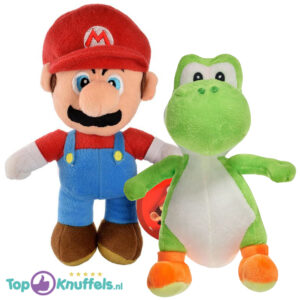 Mario + Yoshi pluche knuffel set 28cm