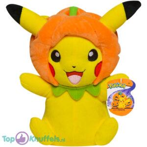 Pokemon Pikachu met Halloween Pompoen Muts Pluche Knuffel 21 cm