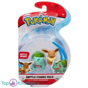 Pokemon Battle Figure Eevee + Bulbasaur (Speelfiguur)
