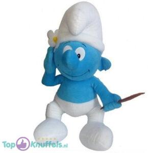De Smurfen Pluche Knuffel Hippe Smurf 30 cm