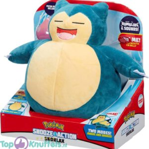 Pokemon Snorlax Snooze Action (Met Geluid) Pluche Knuffel 30 cm