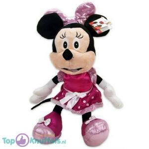 Disney Minnie Mouse Pluche Knuffel (roze met strik) 45 cm