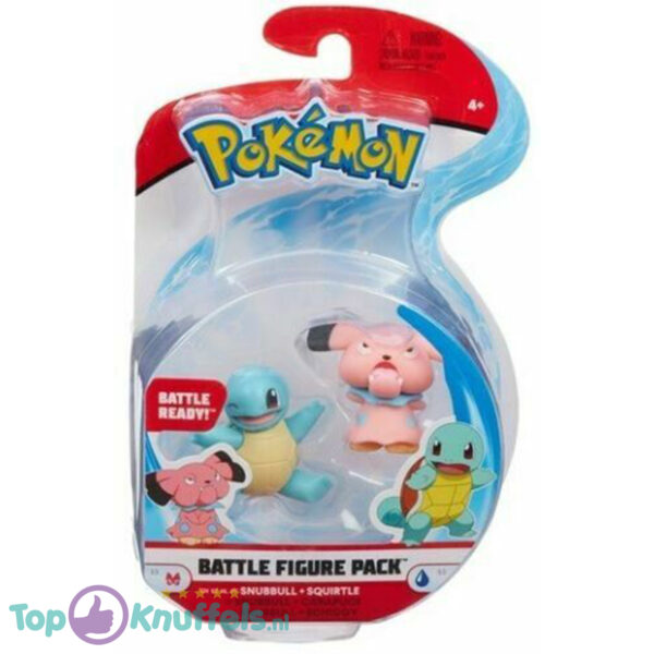 Pokemon Battle Figure Snubbull + Squirtle (Speelfiguur)