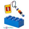 Lego Opbergblokje 10cm + Lego Sleutelhanger 10cm (Blauw