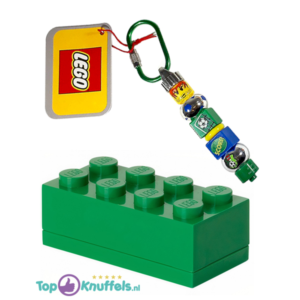 Lego Opbergblokje 10cm + Lego Sleutelhanger 10cm (Groen