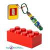 Lego Opbergblokje 10cm + Lego Sleutelhanger 10cm (Rood
