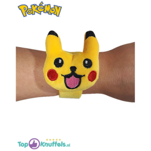 Pokemon Pikachu Gezichtje Happy klap-armband (One Size)