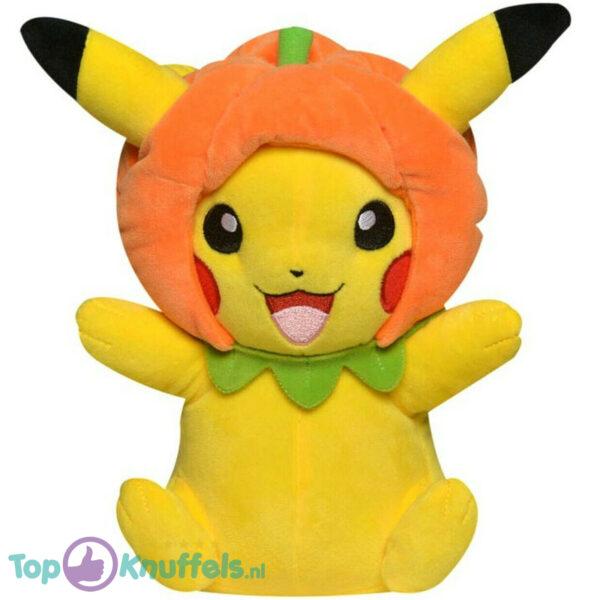 Pokemon Pikachu met Pompoen Muts Pluche Knuffel 21 cm