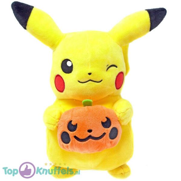 Pokemon Pikachu met Pompoen Pluche Knuffel 21 cm