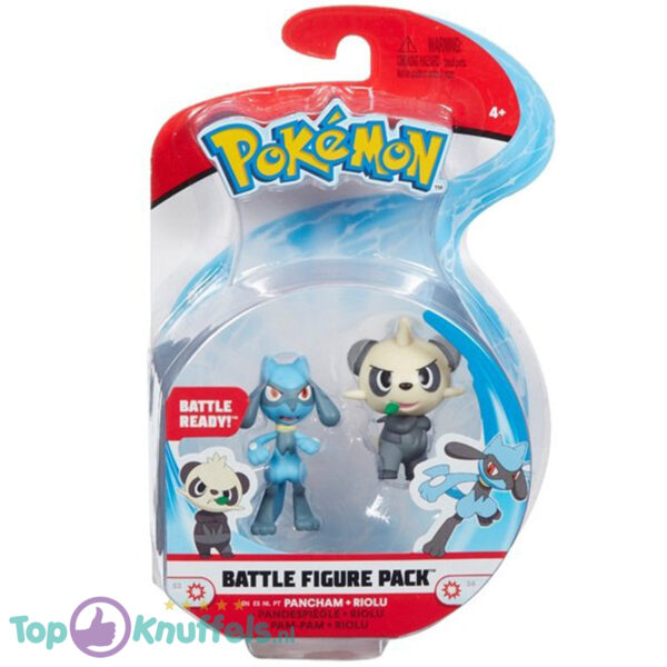 Pokemon Battle Figure Pancham + Riolu (Speelfiguur)