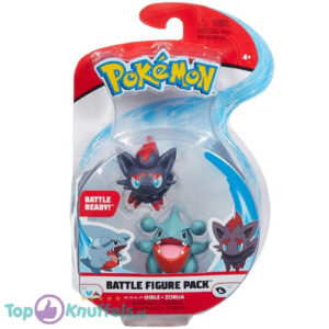 Pokemon Battle Figure: Gible + Zorua (Speelfiguur)
