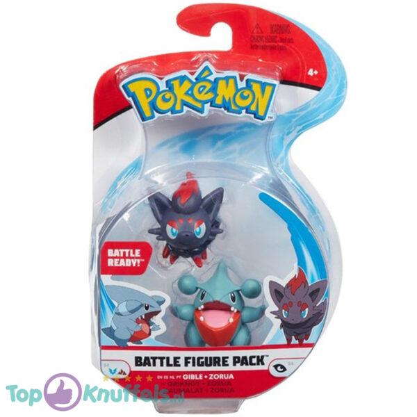 Pokemon Battle Figure: Gible + Zorua (Speelfiguur)