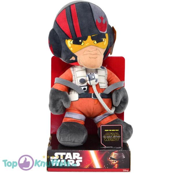 Disney Star Wars Poe Dameron Pluche Knuffel + Displaydoos 30 cm