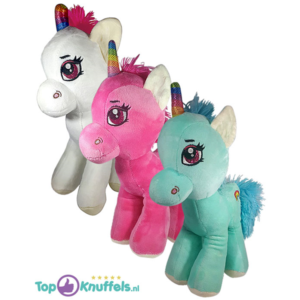 Rainbow Unicorn Pluche Knuffel Set van 3
