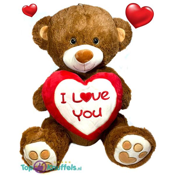XL Teddybeer met rood