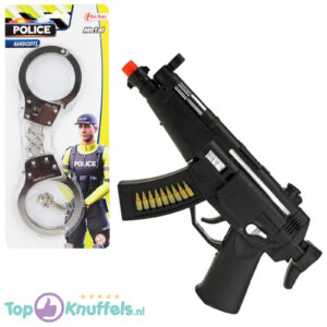Politie MP5 Speelgoedwapen + Metalen Handboeien Set (Speelgoed voor kinderen)