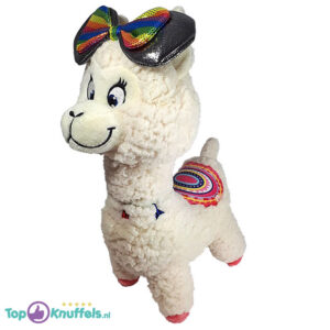 Minnie Regenboog Lama met Strik Pluche Knuffel 30 cm