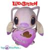 Disney Angel Lilo en Stitch met paars hart ''I Love You'' pluche knuffel 30 cm