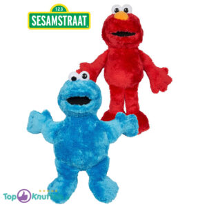 Sesamstraat Pluche Knuffel Set Elmo + Cookie Monster (30 cm)